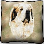 Great Pyrenees Tapestry Cushion Cover-0