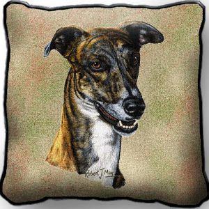 Greyhound Tapestry Cushion Cover-0