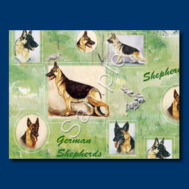 German Shepherd- Gift Wrap paper-0