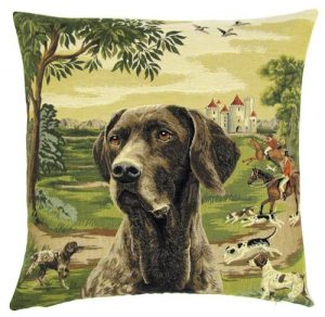 German Shorthaired Pointer Tapestry Cushion Cover.-0