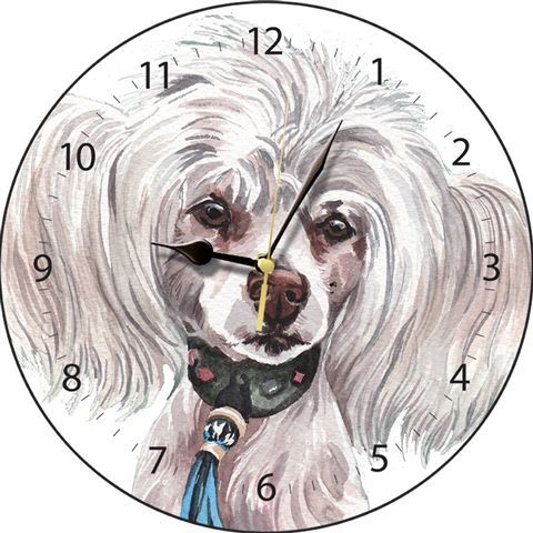 Chinese Crested Dog- Clock-0
