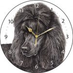 Poodle Black - Clock-0