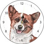 Welsh Corgi  – Clock-0