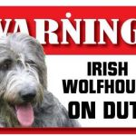 Irish Wolfhound Warning Sign-0