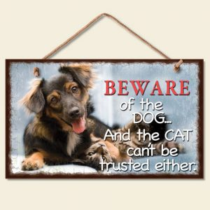 Beware of the Dog... Hanging Sign-0