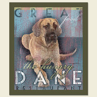 Great Dane - Retro Magnet-0