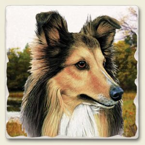 Collie - Tumbled Stone Magnet-0