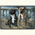 Staffordshire Bull Terrier Door Mat-0
