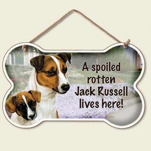 A Spoiled Rotten Jack Russell Lives Here - Hanging Sign-0
