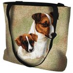 Jack Russell And Pup Tote Bag-0