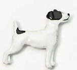 Jack Russell Hand Painted Pin – Gray/White-0