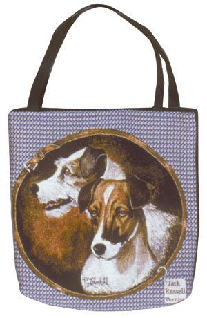 Jack Russell Tapestry Tote bag-0