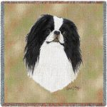Japanese Chin Tapestry Throw-0
