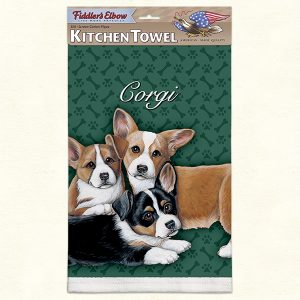 Corgi Puppies - 100% Cotton Kitchen Towel-0