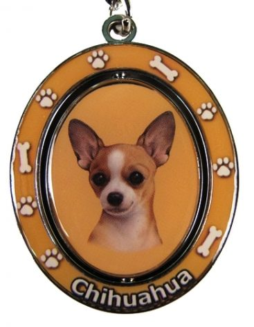 Chihuahua (Tan) Spinning Keychain-0