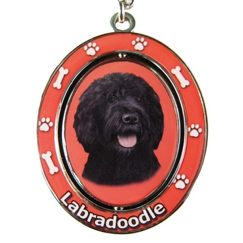 Labradoodle Spinning Keychain-0