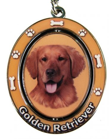 Golden Retriever Spinning Keychain-0