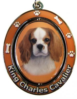 Cavalier King Charles - Spinning Keychain-0