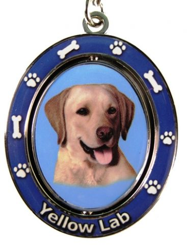 Labrador (Yellow) Spinning Keychain-0