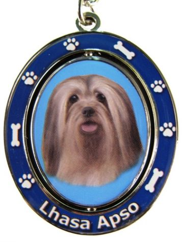 Lhasa Apso Spinning Keychain-0