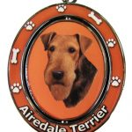Airedale Terrier Spinning Keychain-0