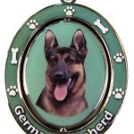 German Shepherd Spinning Keychain-0