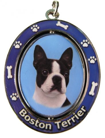 Boston Terrier Spinning Keychain-0