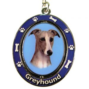 Greyhound Spinning Keychain-0