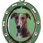 Brindle Greyhound Spinning Keychain-0