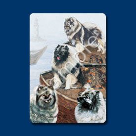 Keeshond - Deck of Playing Cards-0