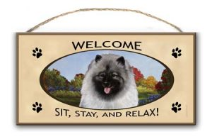 Keeshond- Welcome Hanging Sign-0