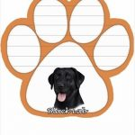 Labrador -black- Magnetic Note Pad-0