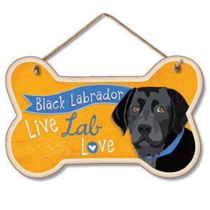 Black Labrador - Hanging Sign-0