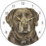 Chocolate Labrador - Clock-0
