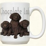Labrador -Chocolate- Puppies Mug-0