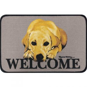 Yellow Labrador Coir Door Mat-0