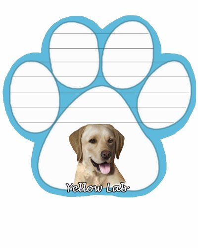 Labrador -yellow- Magnetic Note Pad-0