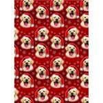Yellow Labrador – 6 x Christmas Gift Wrap & Tag-0