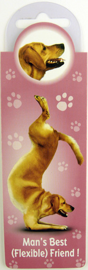 Yoga Labrador Magnetic Bookmark–0