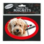 I Love My Labradoodle - Oval Magnet-0