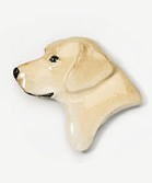 Labrador Yellow Head Hand Painted Pin-0
