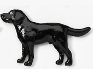 Labrador Black Hand Painted Pin-0