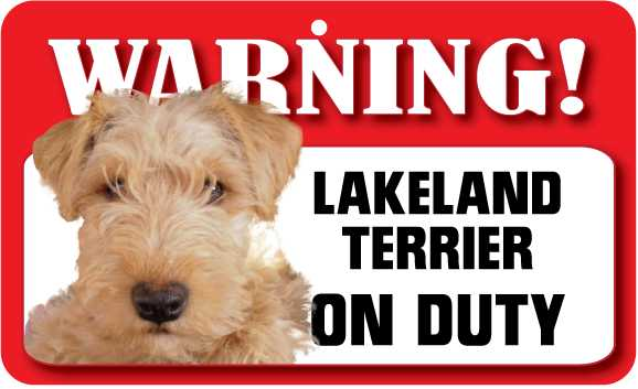 Lakeland Terrier Warning Sign-0