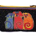 Laurel Burch Doggie Cosmetic Bags-Canine Family-0