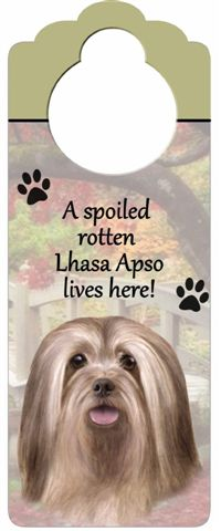 Lhasa Apso Door Knob Sign-0