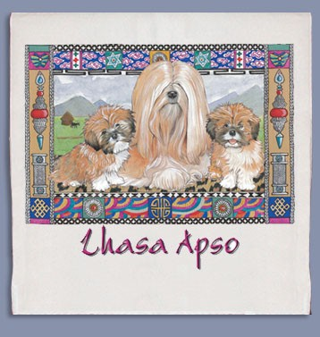 Lhasa Apso Kitchen Tea Towel--0