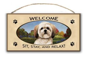 Lhasa Apso- Welcome Hanging Sign-0