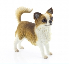Chihuahua long haired Dog Figurine -0