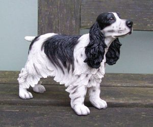 Cocker Spaniel B&W Dog Figurine-0