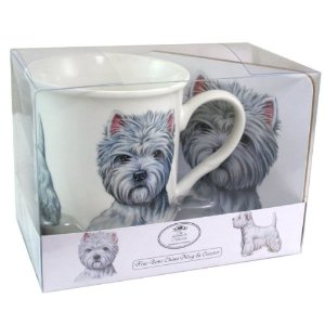 West Highland Terrier - Fine China Mug & Coaster set-0